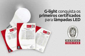 Lâmpadas de LED certificadas.