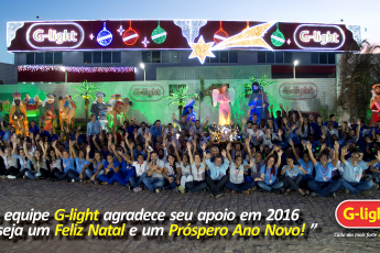 Equipe G-light deseja um Feliz Natal e Próspero Ano Novo.