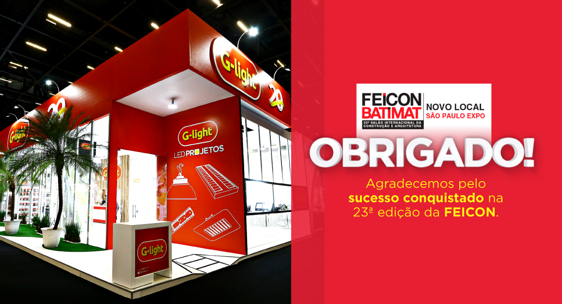 G-light marca presença na Feicon Batimat.