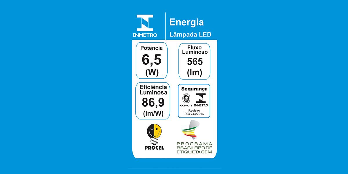 Lâmpadas certificadas exibem etiqueta ENCE na embalagem!