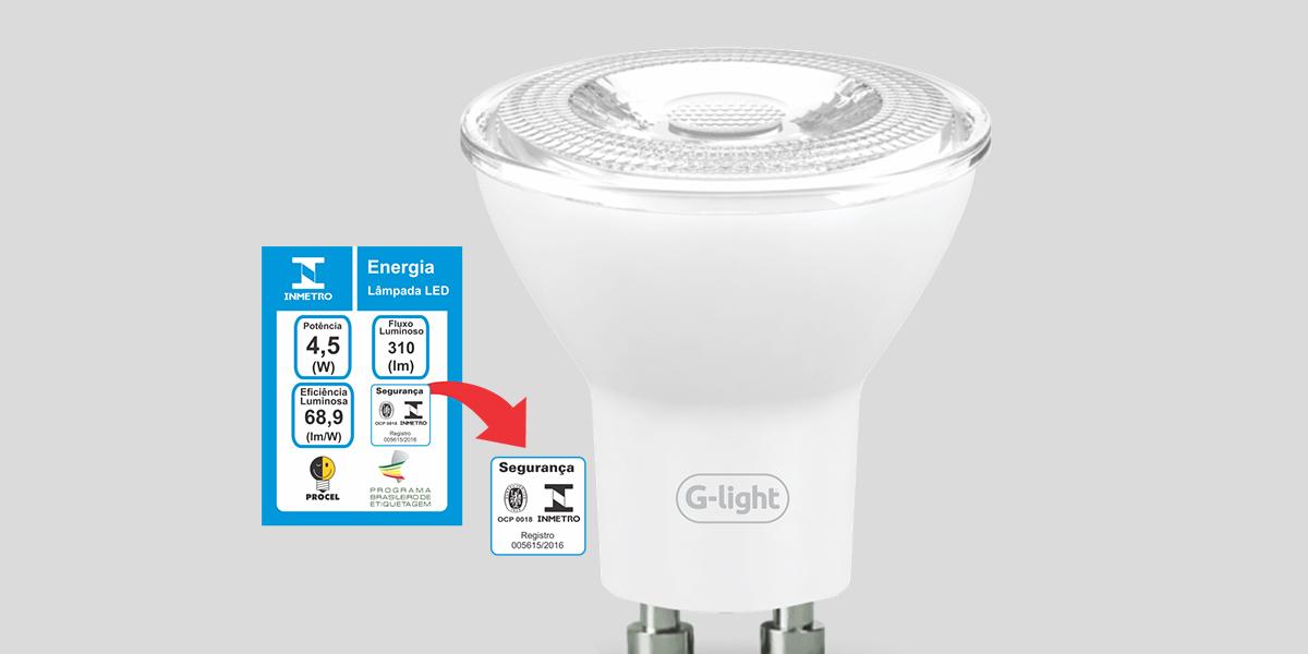 Inmetro garante o funcionamento adequado das lâmpadas de LED.