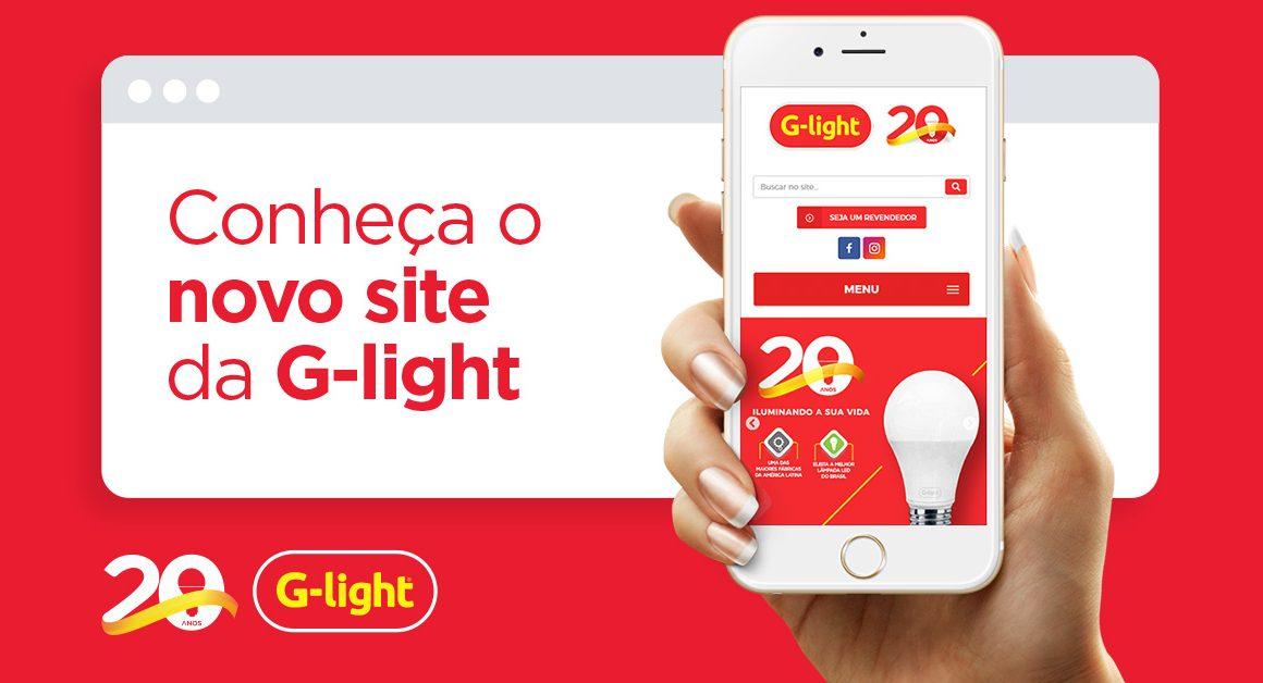 Conheça o novo site da G-light
