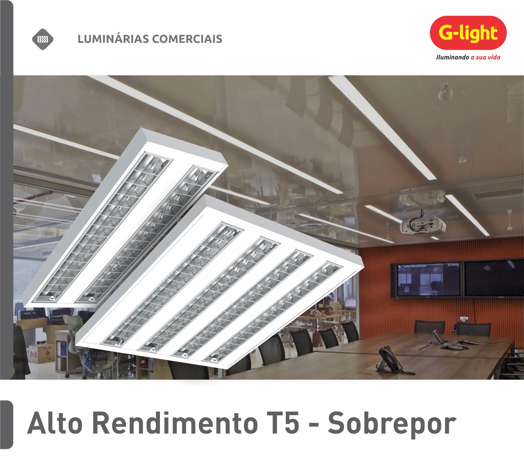 Luminária de Alto Rendimento T5 - Sobrepor