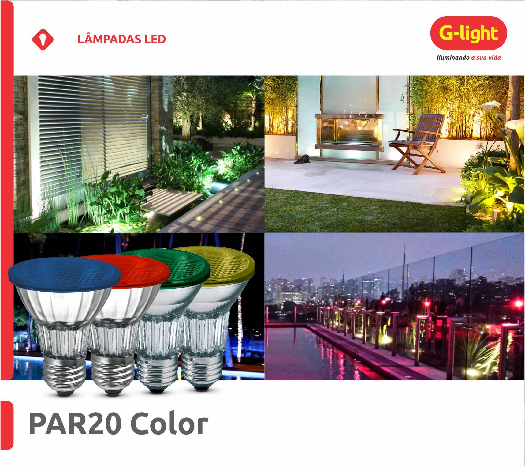 Lâmpadas PAR20 Color
