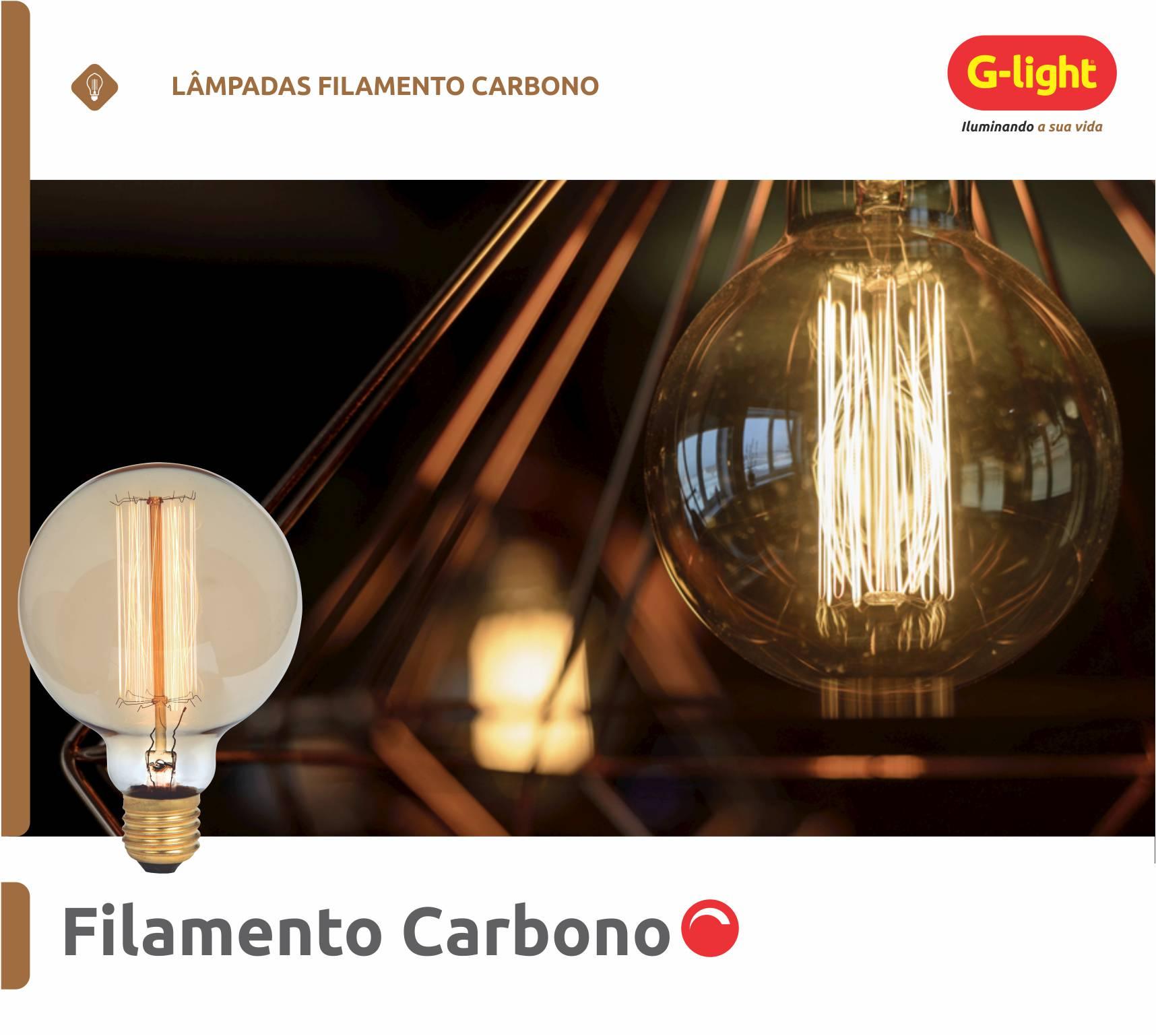 Lâmpadas de Filamento Carbono
