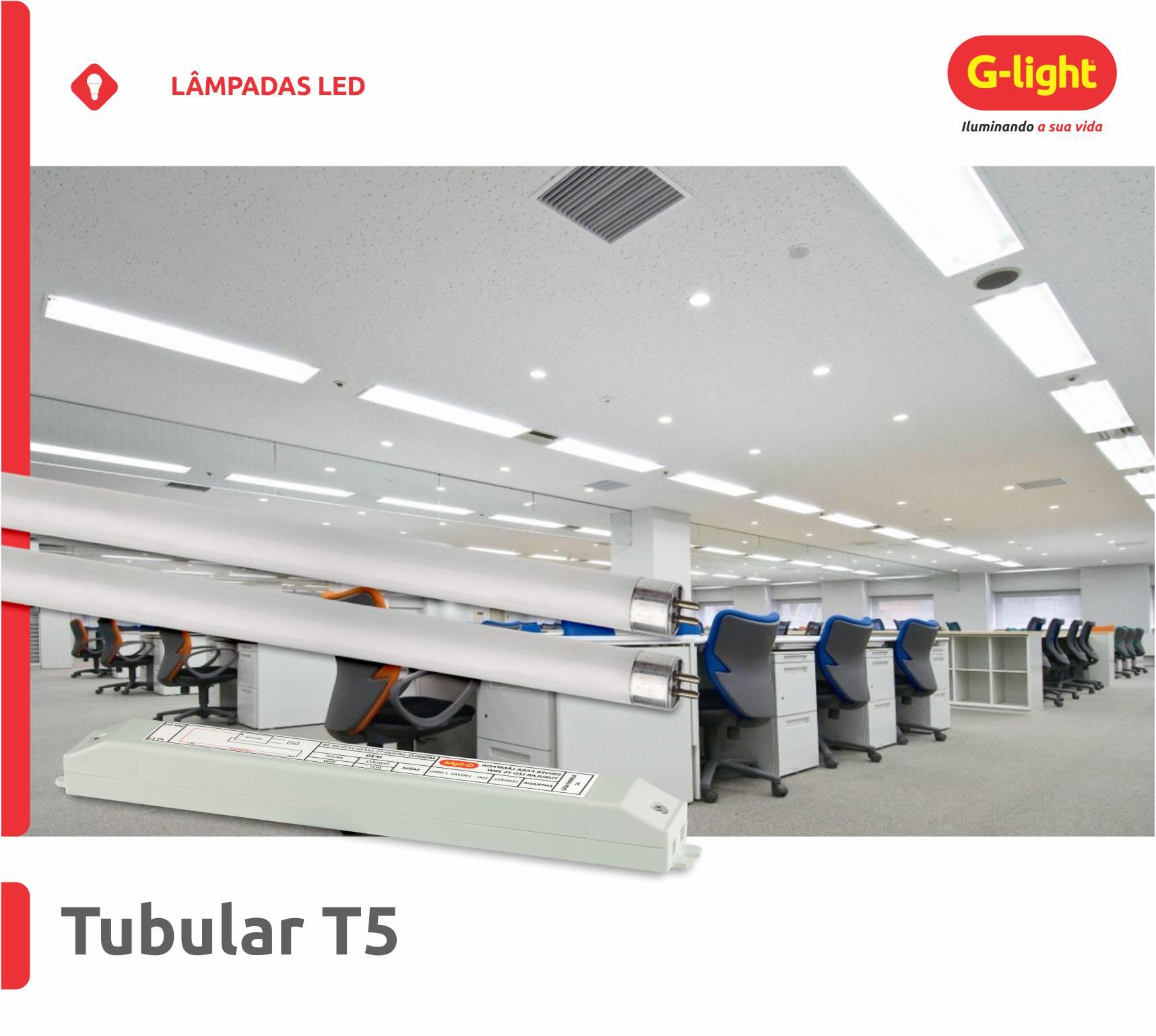 Lâmpadas Tubulares LED T5