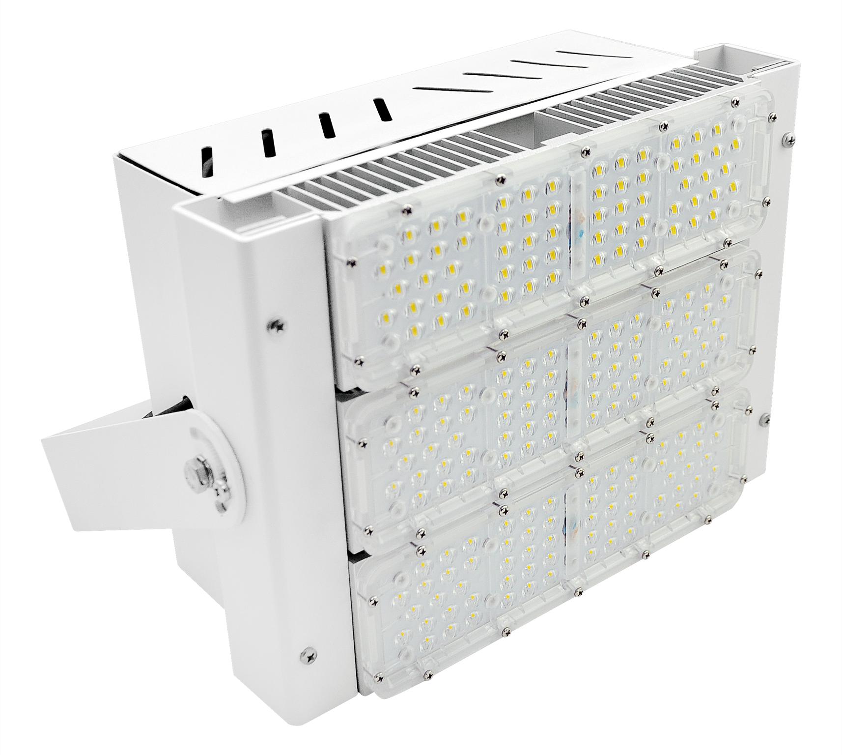 REFLETOR LED 150W MODULO DC COM DPS 3X50W 90° 5000K 150LM/W ALUMINIO AUTOVOLT BRANCA