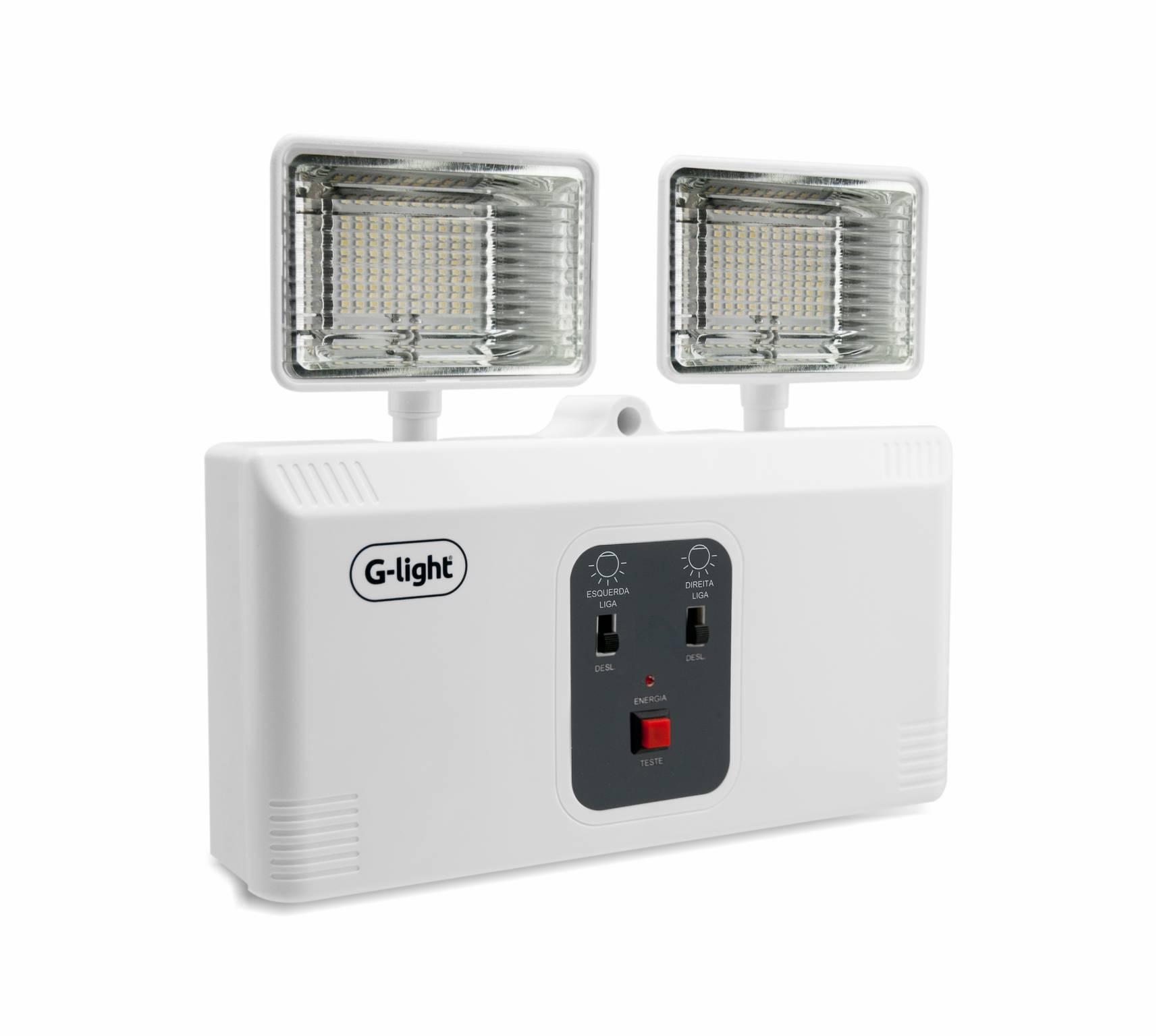 Bloco Autonomo LED P/ Iluminação de Emergência 10W - 1200lm 6500K AUTOVOLT
