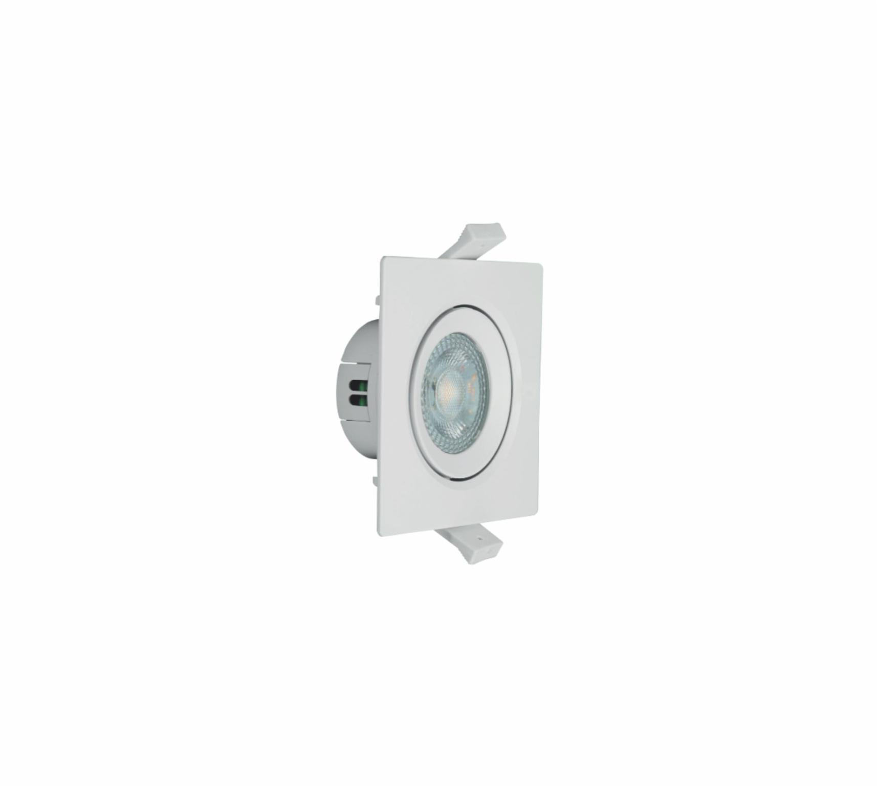SPOT LED MR11 quadrado branco 3,5W AUTOVOLT 3000K